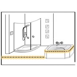 Cutie jonctiuni receiver radio 2 canale – iluminat LED -  ROP-03, 10-14V DC