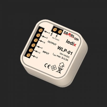 Cutie jonctiuni amplificator RGB – iluminat LED - WLP-01, 10-14V DC, Ledix