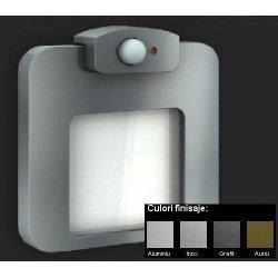 Moza Lampa LED - Monocolor, Senzor de Miscare + Crepuscular, Alimentare 230V
