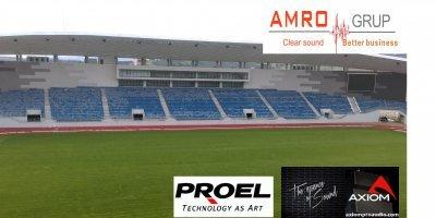 Amro Electronic și Axiom fac echipă la sonorizarea Stadionului Târgu Jiu