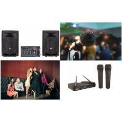 instalatie sunet karaoke II, instalatie sunet karaoke evenimente, instalatie sunet prezentari, instalatie sunet seminarii, instalatie sunet all in one activ, kit 2 microfoane wireless, sistem de sonorizare karaoke, specialisti sonorizari amro grup