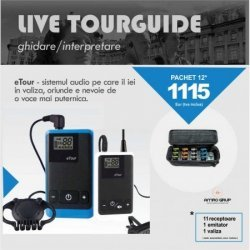 Tour guide, sistem audio mobil ghidare fabrici si turism [Pachet]