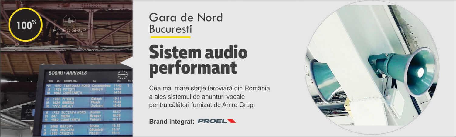 Un nou sistem de anunturi vocale in Gara de Nord, Bucuresti