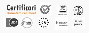 Cumpara echipamente public address profesionale de la producatori certificati En54-24, RoHS cu garantie si conformitate